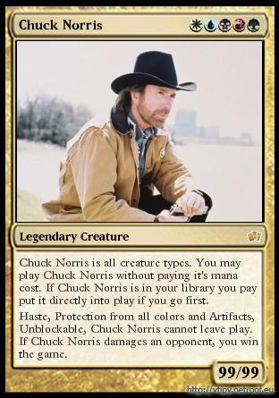 Voilà à quoi ressemble une carte de Magic (en gros)