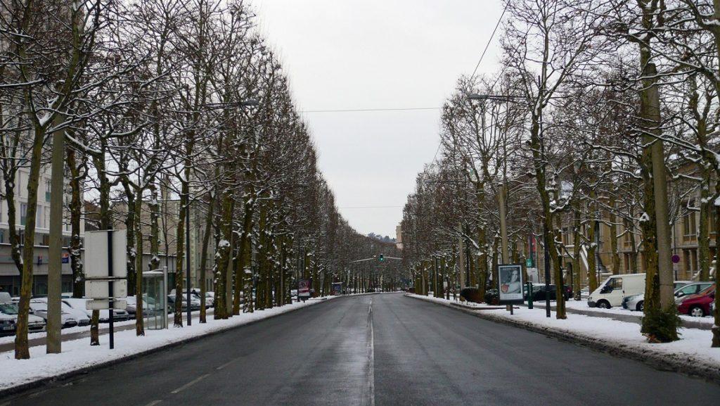 Cours Fauriel (photo non contractuelle. On n'a eu que 4 heures de neige cet hiver)